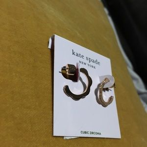 Kate Spade Rose Gold Scalloped Hoop Earrings